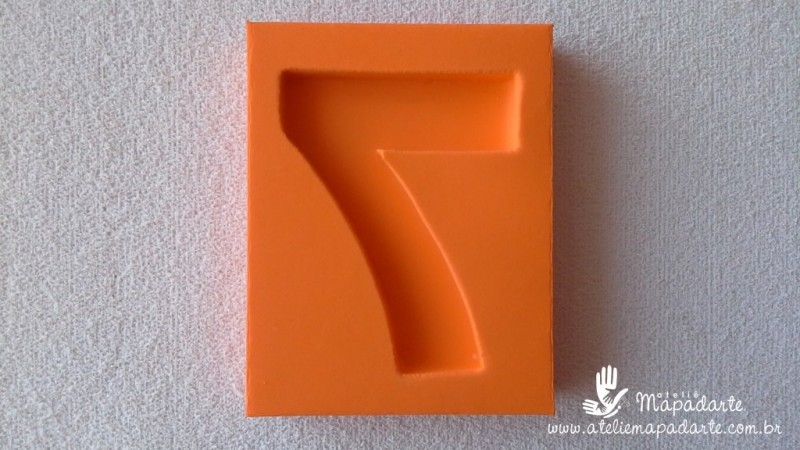 Foto2 - Cód 577 Molde de números sete(7) modelo N1 (Para velas de biscuit)