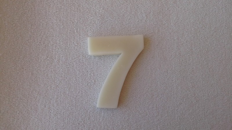 Foto3 - Cód 577 Molde de números sete(7) modelo N1 (Para velas de biscuit)