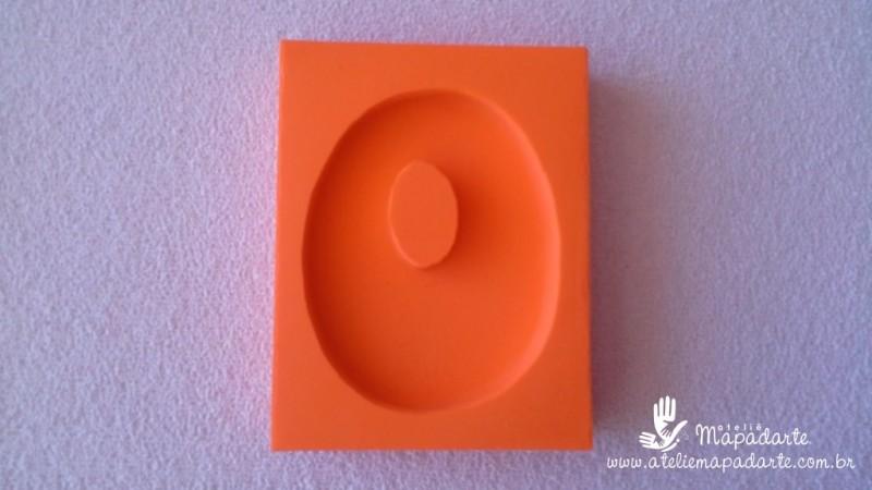 Foto 1 - Cód 580 Molde de números zero (0) modelo N2 (Para velas de biscuit)