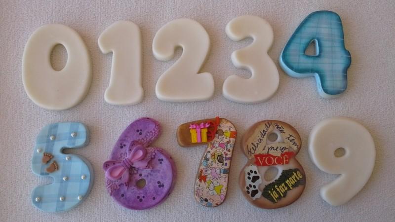 Foto2 - Cód 580 Molde de números zero (0) modelo N2 (Para velas de biscuit)