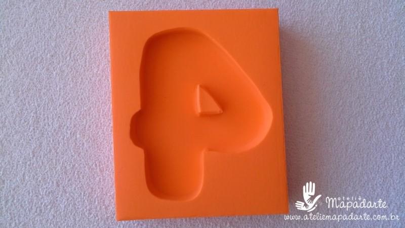 Foto 1 - Cód 584 Molde de números Quatro (4) modelo N2 (Para velas de biscuit)