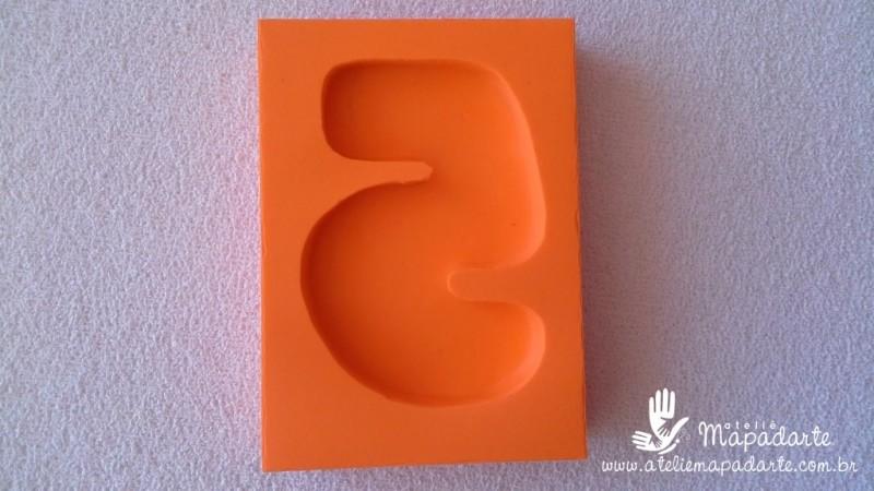Foto 1 - Cód 585 Molde de números Cinco (5) modelo N2 (Para velas de biscuit)