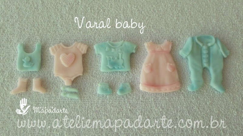 Foto 1 - Cód 636 Molde varal baby