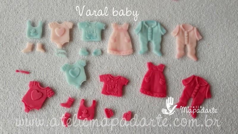 Foto2 - Cód 636 Molde varal baby
