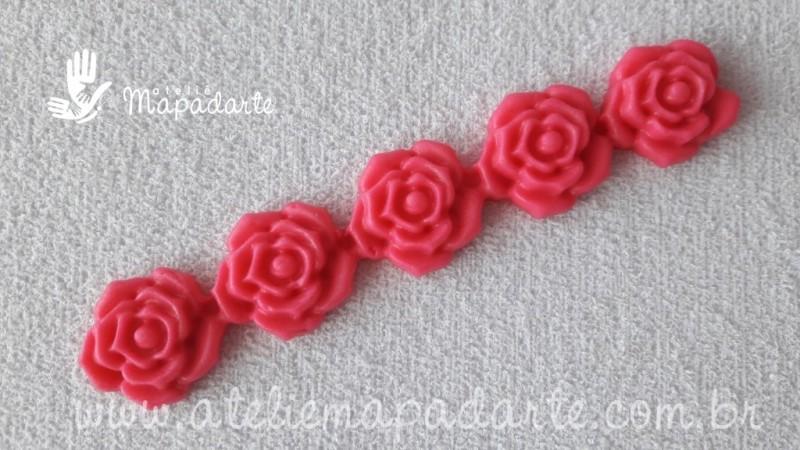 Foto 1 - Cód 639 Molde de rosas sequenciais
