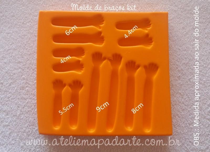 Foto4 - Cód 646 Molde de braço kit 06 tamanhos