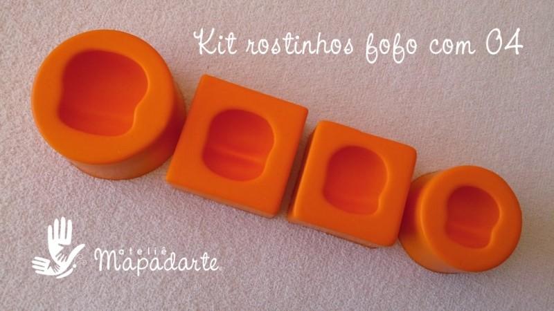 Foto2 - Cód 645 Kit rostinho fofo com 04