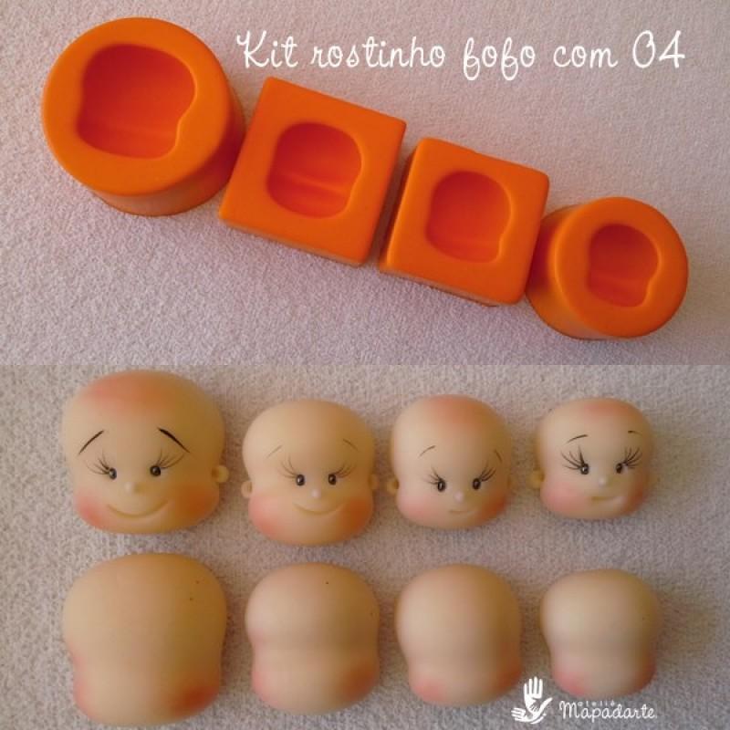 Foto 1 - Cód 645 Kit rostinho fofo com 04