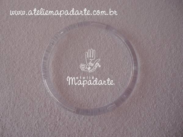 Foto 1 - Cód M1003 Argola transparente G 11.5 cm
