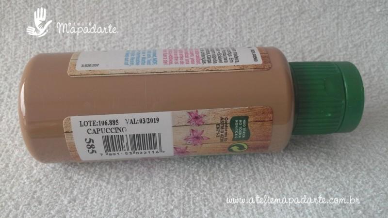 Foto2 - Cód M1431 Tinta acrílica fosca capuccino nature colors 60 ml (585)