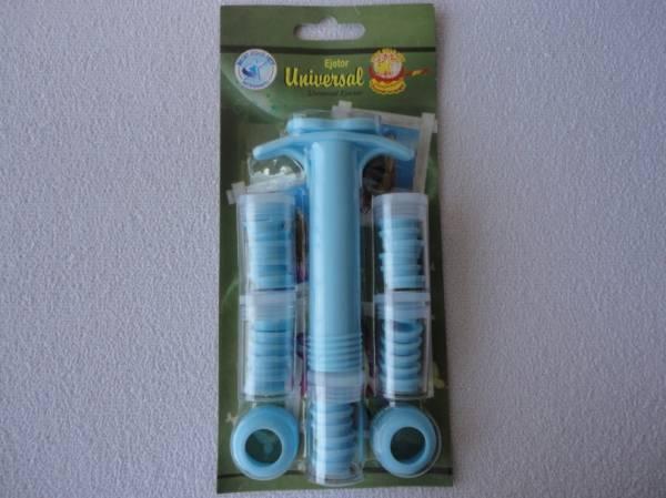 Foto2 - Cód M031 Extrusora de biscuit c/ 32 peças (Blue Star)