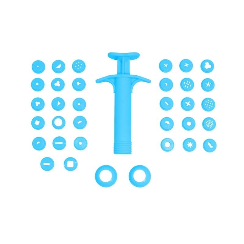 Foto 1 - Cód M031 Extrusora de biscuit c/ 32 peças (Blue Star)