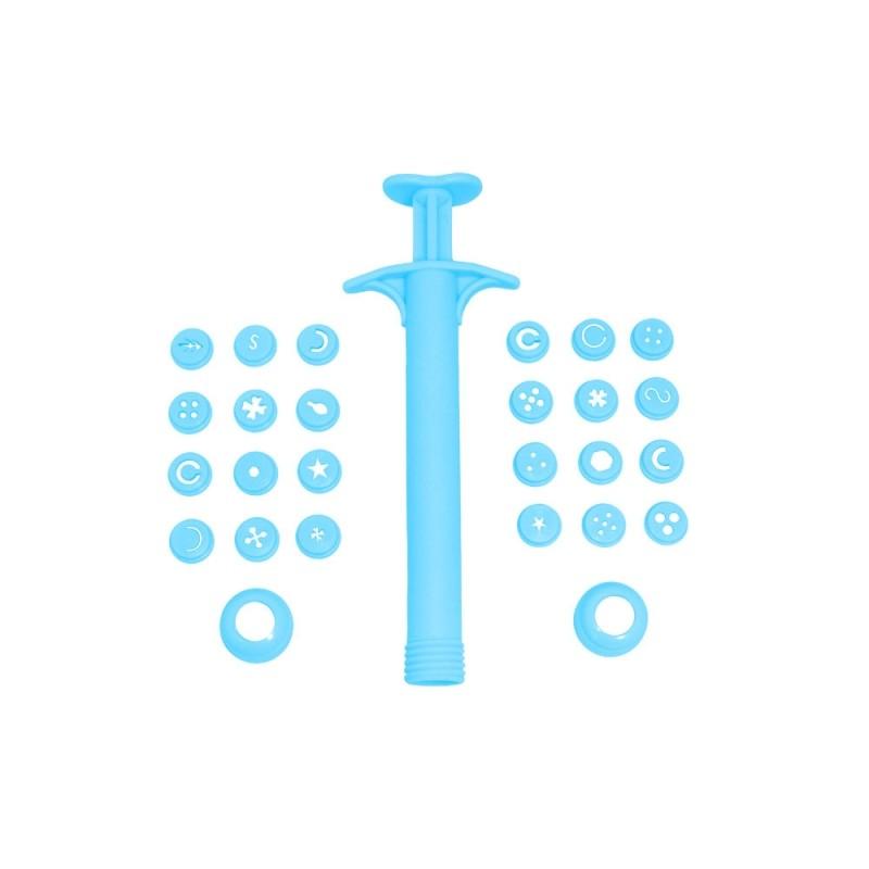 Foto 1 - Cód M032 Extrusora de biscuit especial c/ 24 peças (Blue Star)
