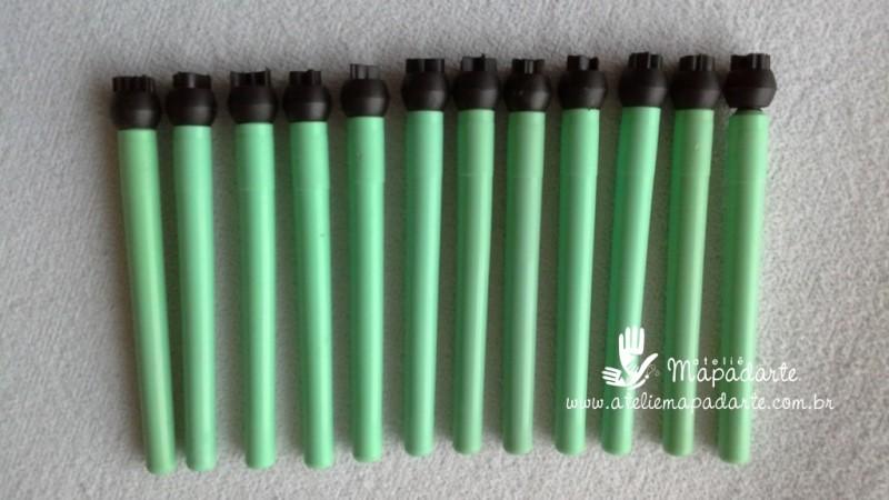 Foto 1 - Cód M050 Kit marcadores (carimbos) c/ 12 peças Tia Cida