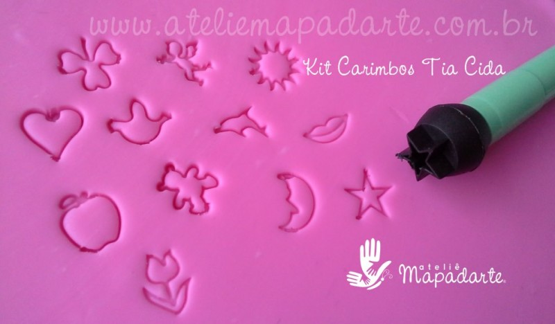 Foto3 - Cód M050 Kit marcadores (carimbos) c/ 12 peças Tia Cida
