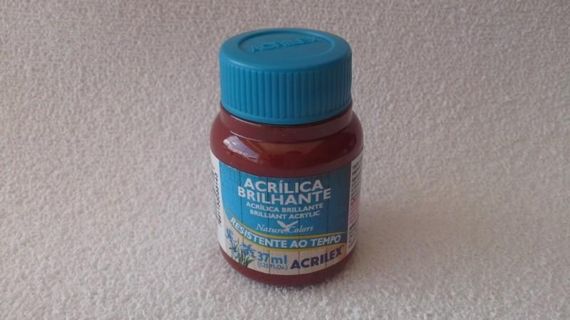 Foto 1 - Cód M1022 Tinta acrílica brilhante marrom 37 ml Acrilex (531)