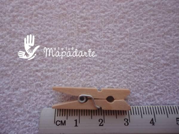 Foto2 - Cód M1029 Prendedor de roupa madeira mini 10 un