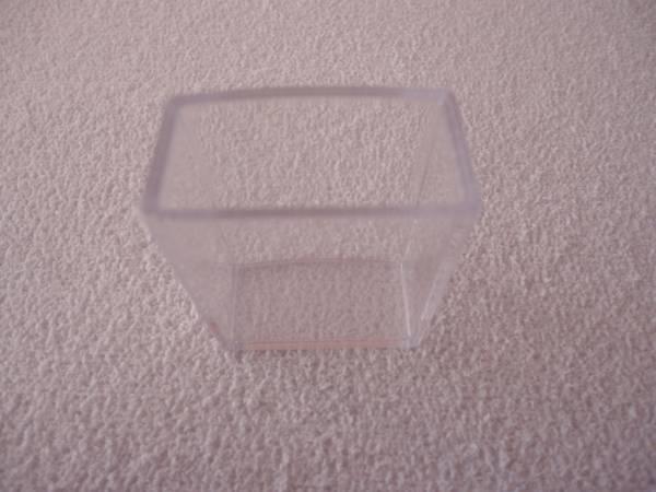 Foto 1 - Cód M1070 Caixa acrílico transparente sem tampa Florbrás 4X4X2cm 1 un