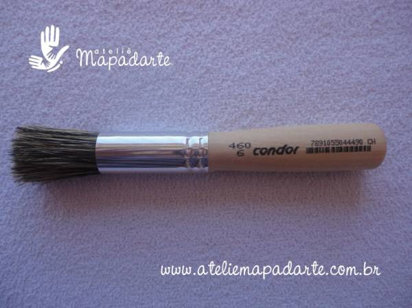 Foto 1 - Cód M1074 Pincel redondo 460-6 Condor (broxa) 1un
