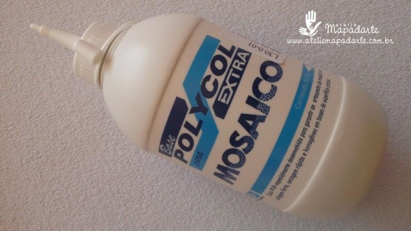 Foto 1 - Cód M1102 Cola mosaico Polycol 500 gr 01 un