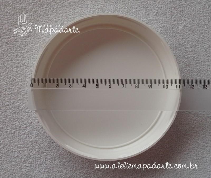 Foto2 - Cód M1110 Tampa plástica branca para pote palmito 3 litros 110mm
