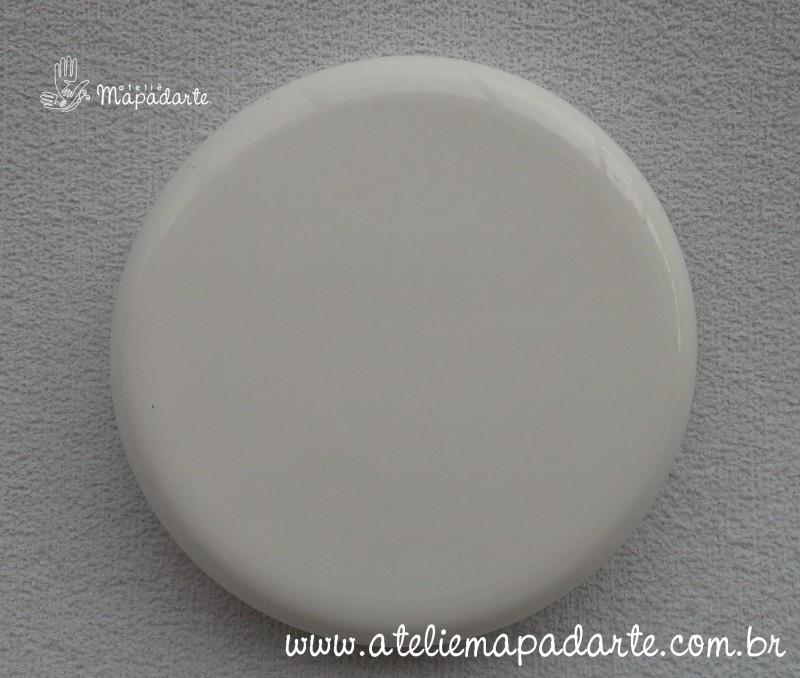 Foto 1 - Cód M1110 Tampa plástica branca para pote palmito 3 litros 110mm