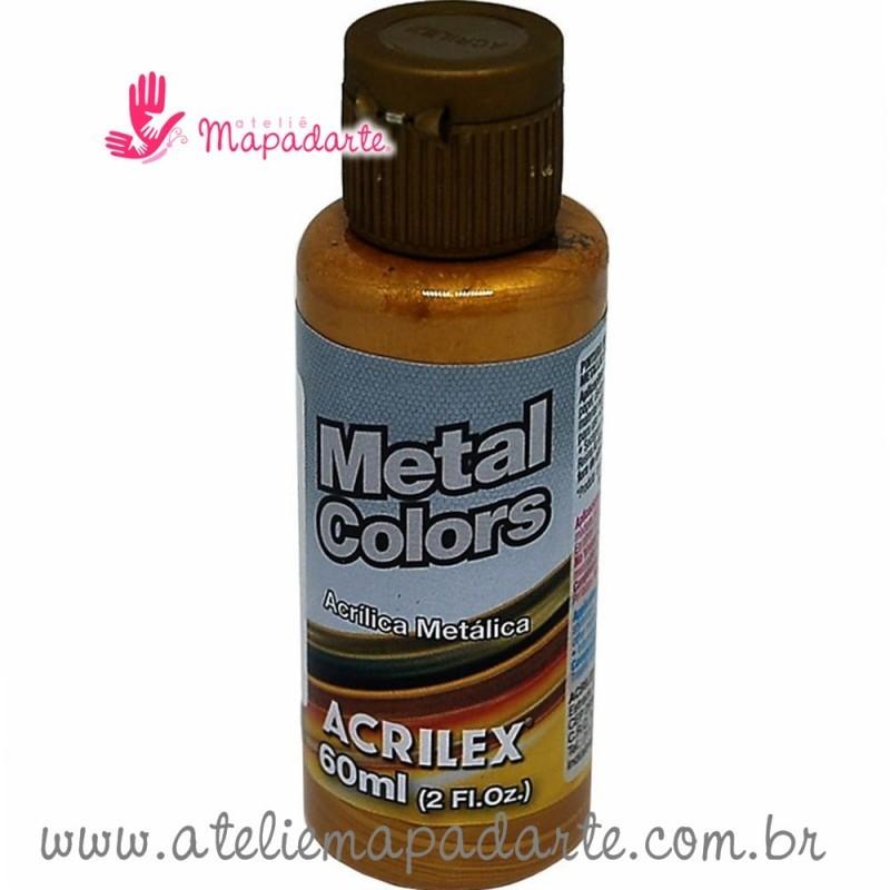 Foto 1 - Cód M1112 Tinta acrílica metal colors dourado solar 60 ml (598)