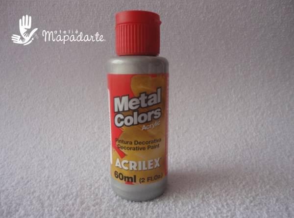 Foto 1 - Cód M1113 Tinta acrílica metal colors prata 60 ml (533)