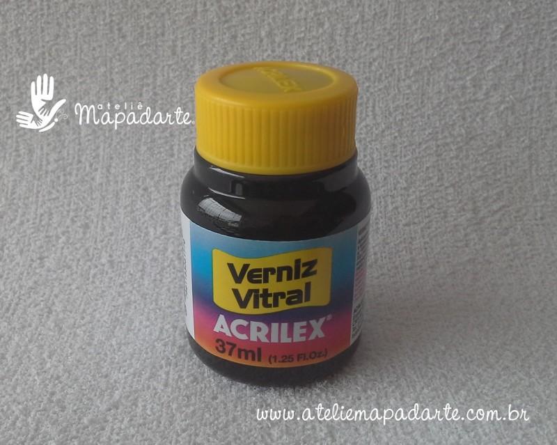 Foto 1 - Cód M1143 Verniz vitral amarelo ouro 37 ml Acrilex