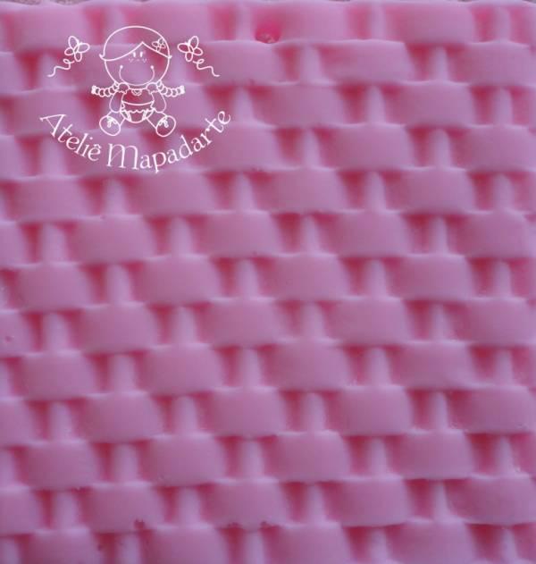 Foto 1 - Cód M115 Rolo de textura cesta
