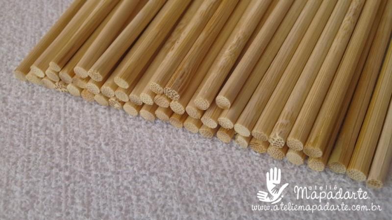 Foto3 - Cód M1159 Palito churrasco de bambu 25cm c/ 50 un
