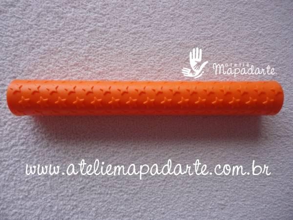 Foto3 - Cód M1171 Rolo textura laranja 01 un (Blue Star)