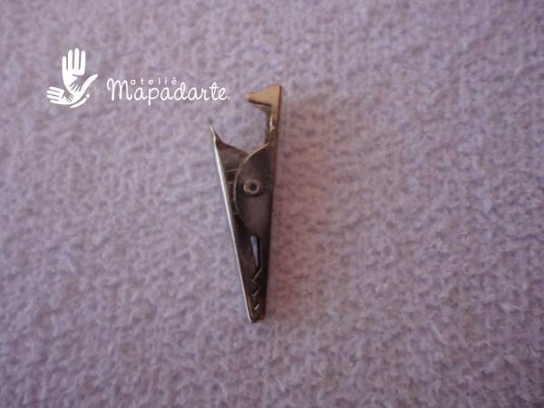 Foto2 - Cód M1190 Porta recado jacaré metal prata c/ 10 un