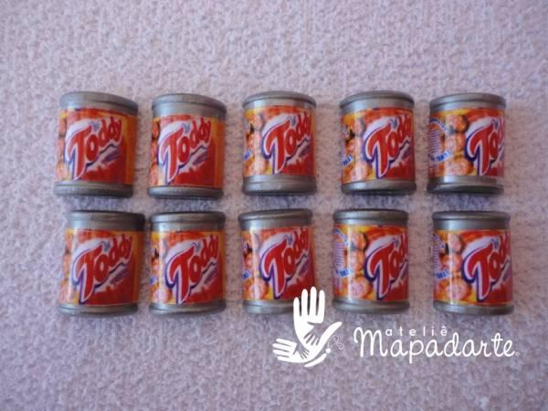 Foto 1 - Cód M1191 Miniatura de toddy lata com 10 un