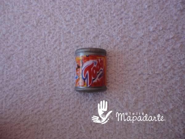 Foto2 - Cód M1191 Miniatura de toddy lata com 10 un
