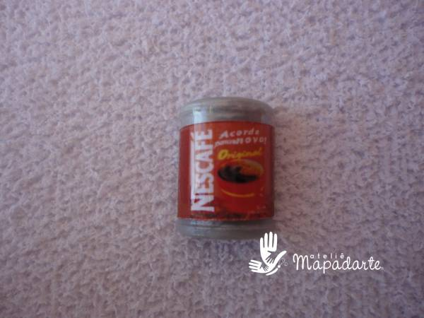 Foto2 - Cód M1193 Miniatura de nescafé lata c/ 10 un