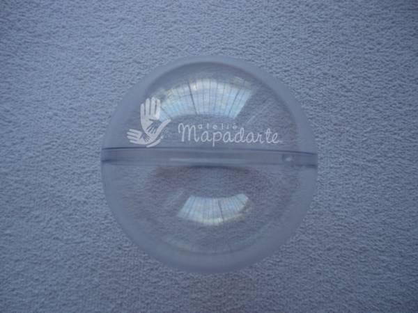 Foto 1 - Cód M1197 Bola de acrílico transparente 75mm (G)