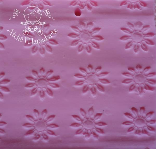Foto 1 - Cód M121 Rolo de textura margarida