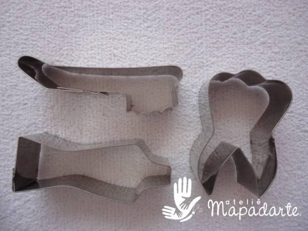 Foto2 - Cód M1214 Cortador inox kit dentista 03 un (CR)