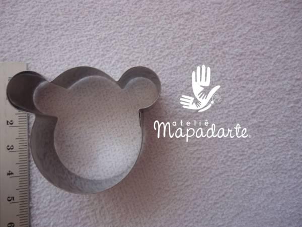 Foto2 - Cód M1215 Cortador inox cara de urso 01 un (CR)