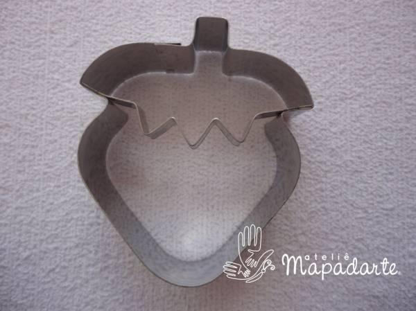 Foto 1 - Cód M1216 cortador inox morango (CR)