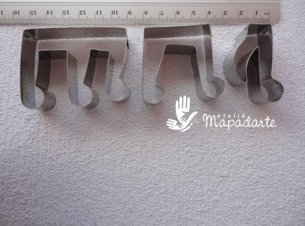 Foto 1 - Cód M1236 Cortador inox notas musicais 3un G (CR)