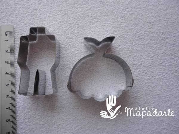 Foto2 - Cód M1242 cortador inox kit noivos (CR)