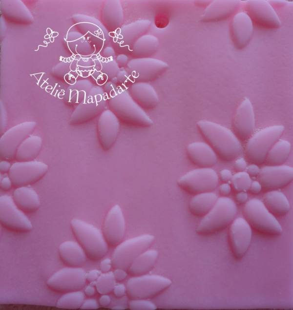 Foto 1 - Cód M127 Rolo de textura flor 12 pétalas
