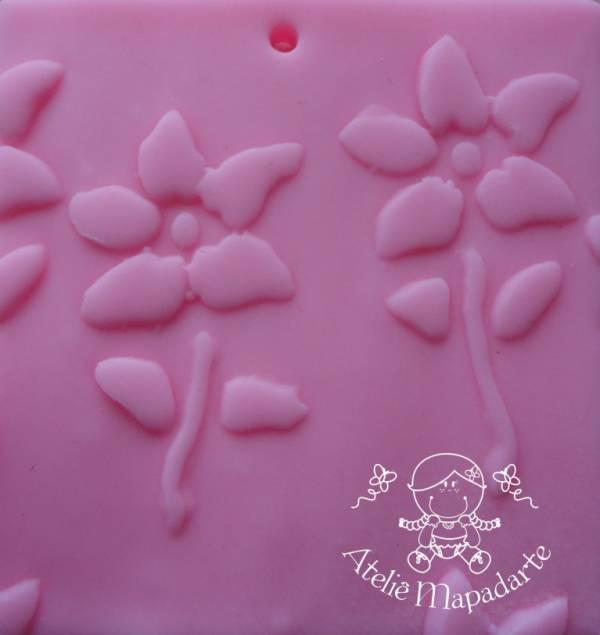 Foto 1 - Cód M128 Rolo de textura flor completa