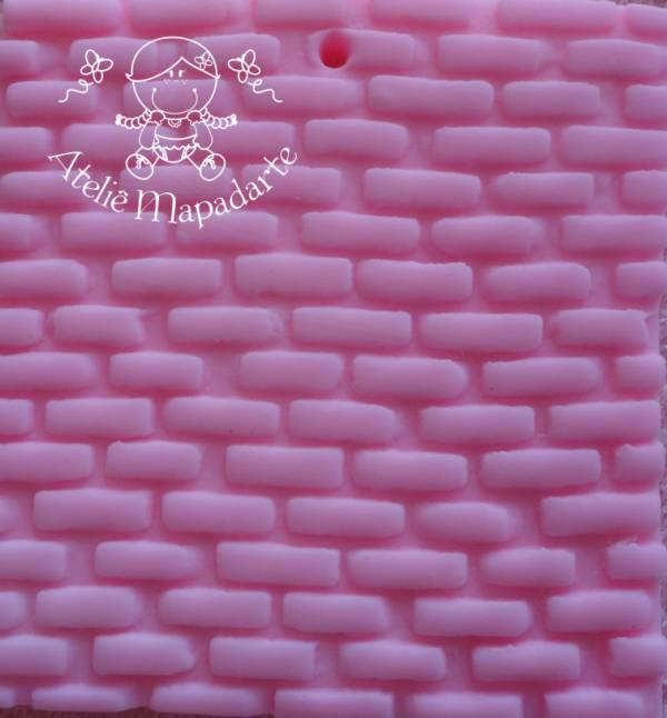 Foto 1 - Cód M131 Rolo de textura tijolinho