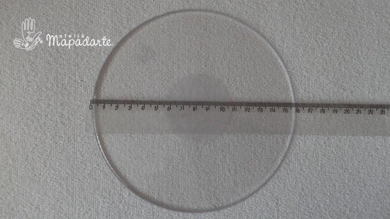 Foto2 - Cód M1351 Base redonda de acrílico transparente 16cm ø
