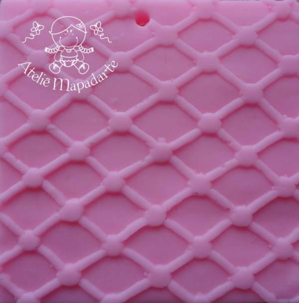 Foto 1 - Cód M139 Rolo de textura rede