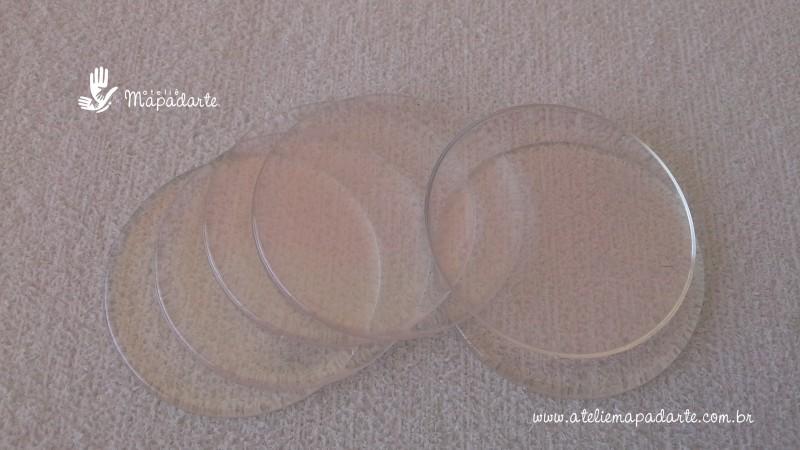 Foto2 - Cód M1378 Base acrílica redonda transparente 10 un 4cm