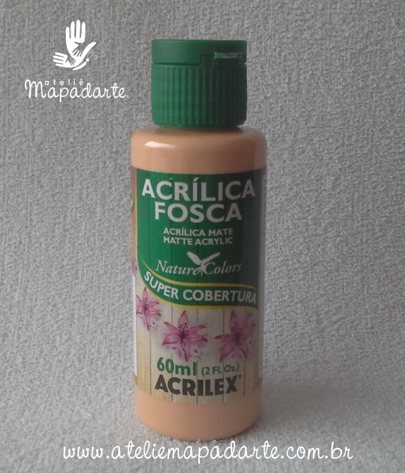 Foto 1 - Cód M1409 Tinta acrílica fosca pele nature colors 60 ml (929)